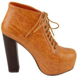 Francheska Platform Burnt Orange Booties